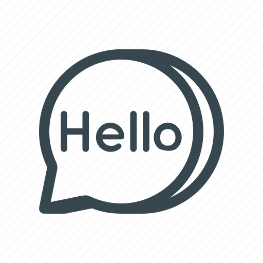 Text, greeting, salutaion, conversation, chat, message, hello icon