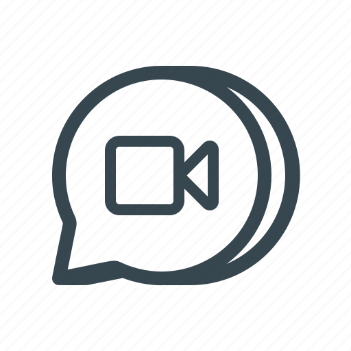 chat, message, messenger, multimedia, story, talk, video icon