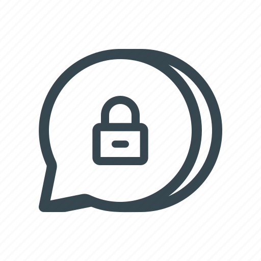 Comment, encrypted, secured, protected, chat, text, message icon