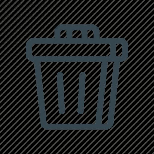 bin, delete, discard, garbage, recycle, remove, trash icon