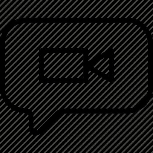 camera, message, multimedia, video icon