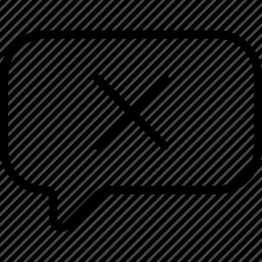 delete, message, remove, unsent icon