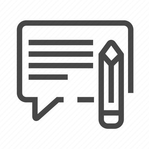 edit, edit message, message, write icon