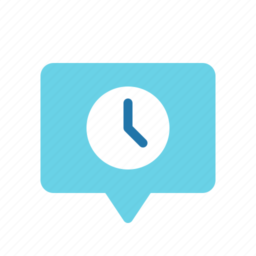 Chat, message, pending, scheduled, timed icon | Icon ...