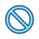 block, cancel, forbidden, restricted, stop icon