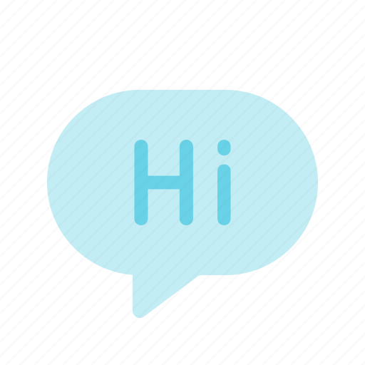 chat, greeting, hi, message, messenger, text icon