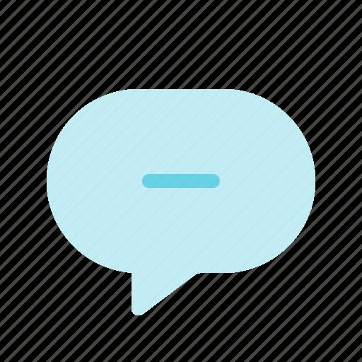 chat, delete, less, message, minus, remove icon