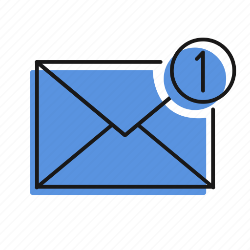 letter, mail, message, one message, send icon