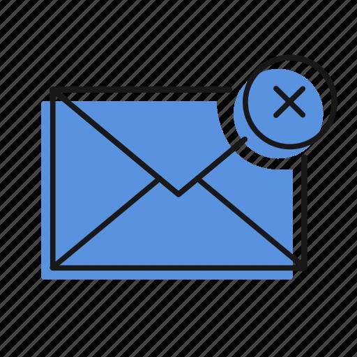 cancel, error, letter, mail, message, send icon