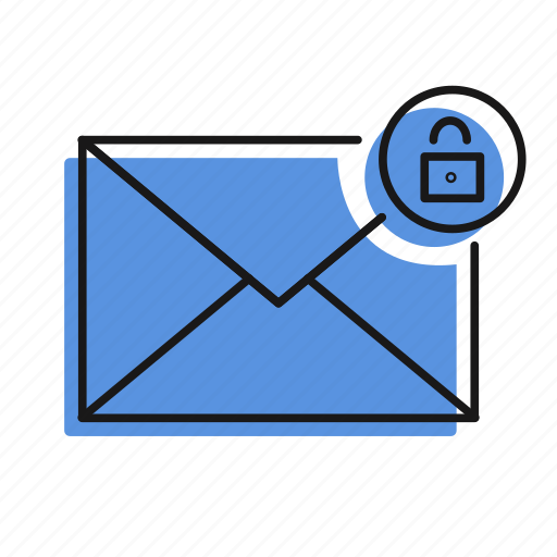 letter, lock, mail, message, send icon