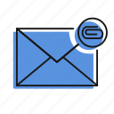attachment, letter, mail, message, send icon