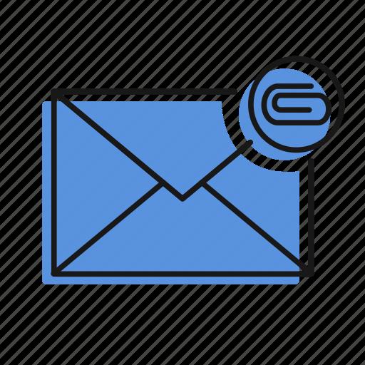 attachment, letter, mail, message, send icon