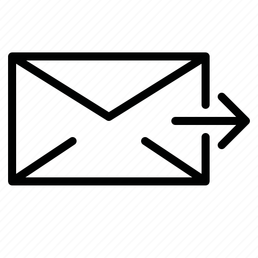 chat, email, letter, mail, message, out, sent icon