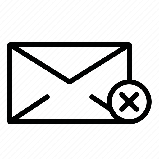 call, cancel, cancel message, chat, letter, mail, message icon