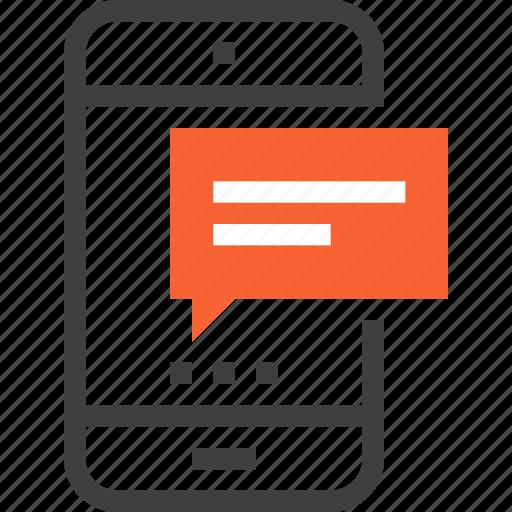 bubble, chat, communication, message, mobile, phone, speech icon