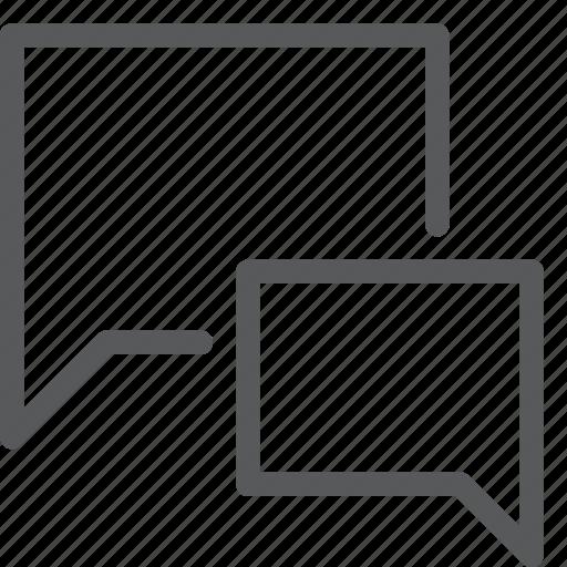 bubble, chat, communication, conversation, double, message, talk icon