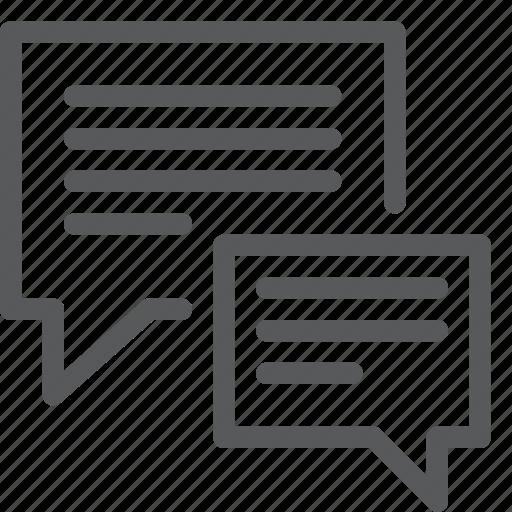 bubble, chat, communication, conversation, double, message, talk, text icon