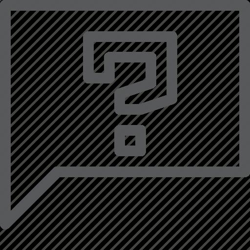 bubble, chat, communication, conversation, faq, message, question, talk icon