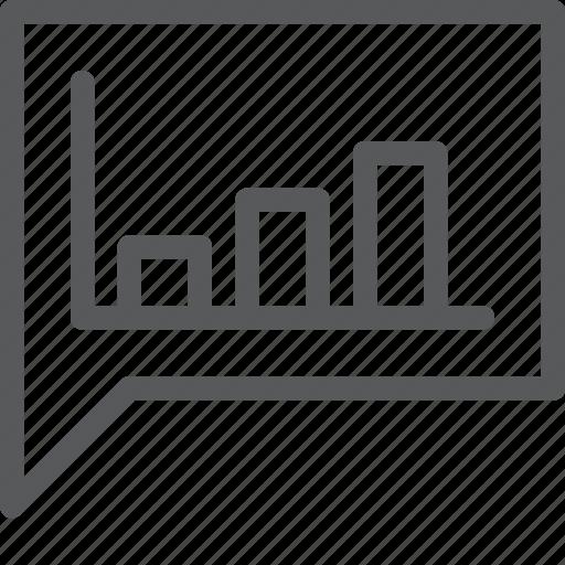 analytics, bubble, chat, communication, conversation, message, statistics, talk icon