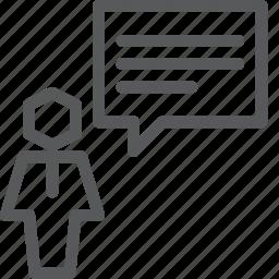 avatar, chat, communication, conversation, message, person, talk, user icon