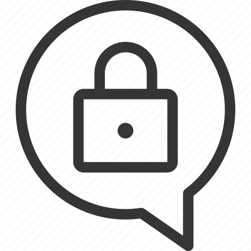 Bubble, chat, dialogue, message, security, shield, speech icon - Download on Iconfinder