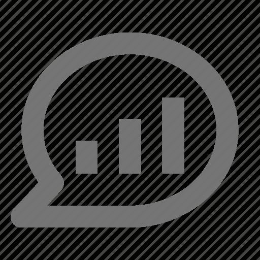 bubble, chat, communication, conversation, graph, message, text, volume icon