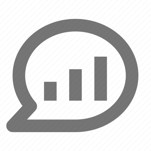 bubble, chat, graph, message, volume icon