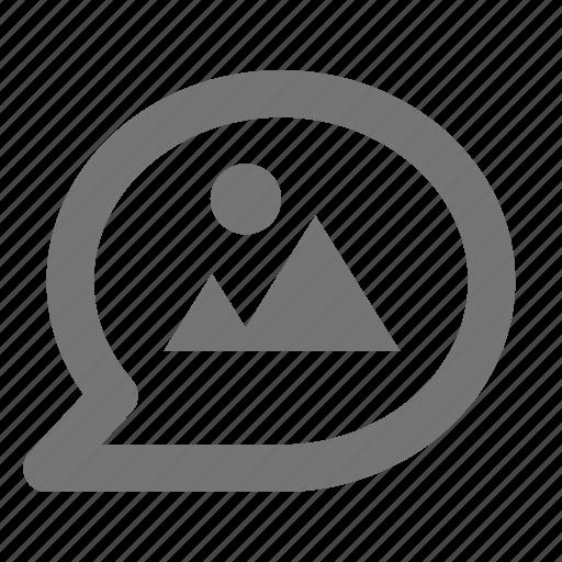 bubble, chat, image, message, photo icon