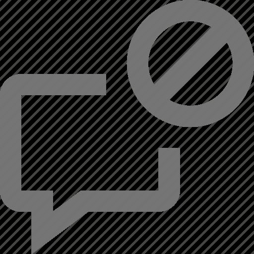 block, bubble, chat, communication, conversation, message, stop, text icon