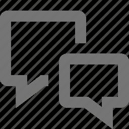 bubble, bubbles, chat, communication, conversation, exchange, message, text icon