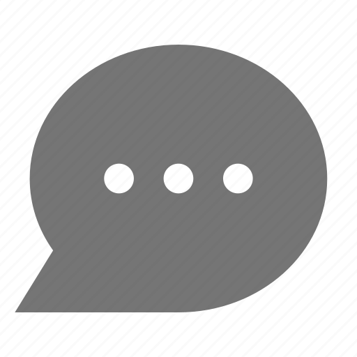 bubble, chat, dots, message icon