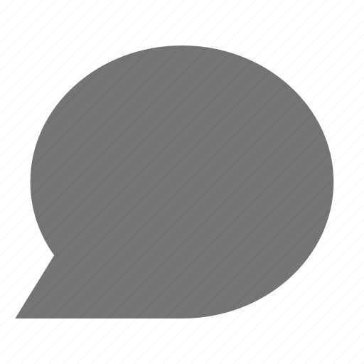 blank, bubble, chat, message icon