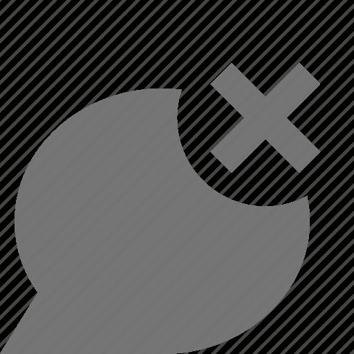 bubble, chat, close, delete, message icon