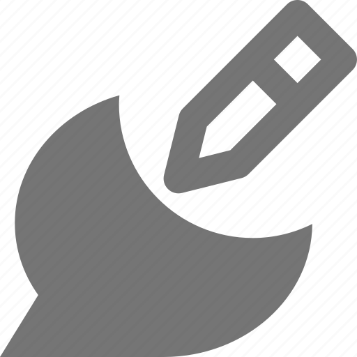 bubble, chat, edit, pencil icon