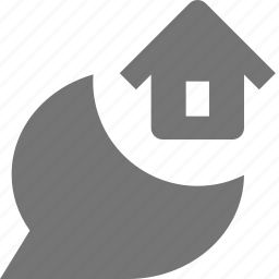 bubble, chat, home, house, message icon