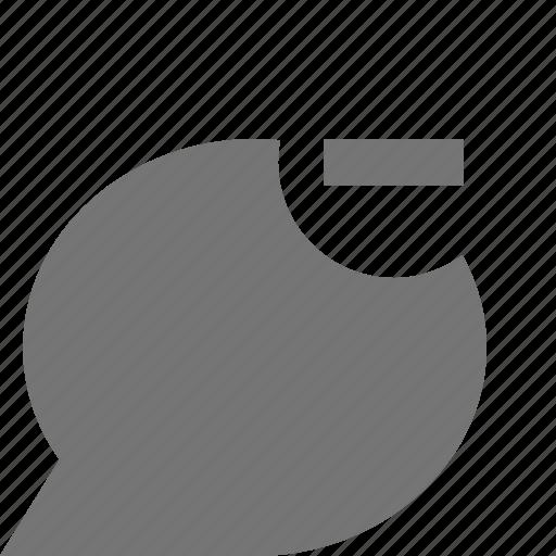 bubble, chat, message, minimize, minus icon