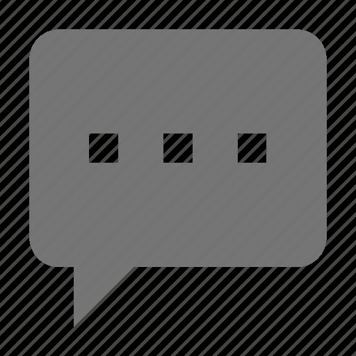 bubble, chat, dots, message icon