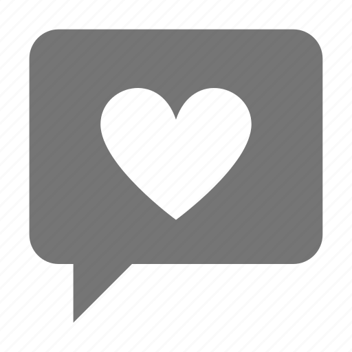 bubble, chat, heart, like, message icon