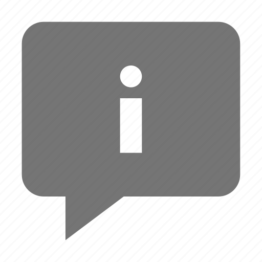 bubble, chat, information, message icon