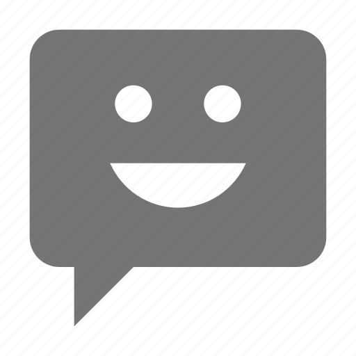 bubble, chat, emoji, face, message, smiley icon
