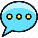messages, bubble, typing