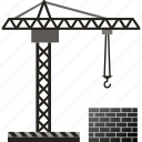 build, building, construction, crane, development, house icon