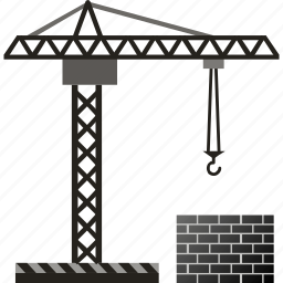 build, building, construction, crane, development, house icon