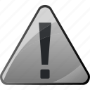 alert, attention, danger, message, warning icon