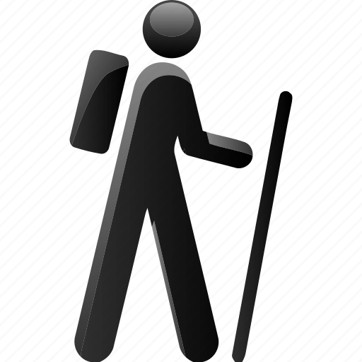 hiker, stroller, travel, walker icon