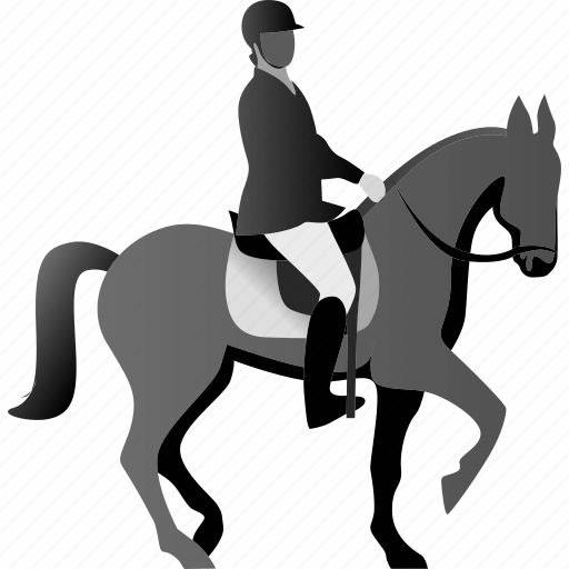 horse, horserider, race, rider icon