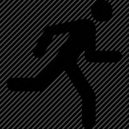 courier, man, runner, running icon