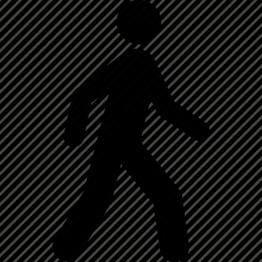 go, human, steps, travel, user, walk, walking icon