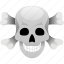 dead, death, horror, poison, skull icon