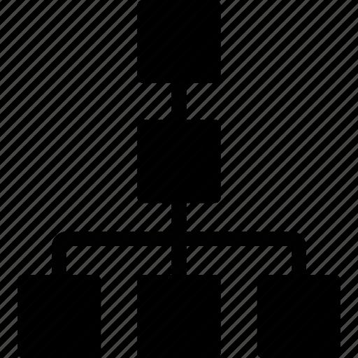 diagram, organisation, organization, scheme icon